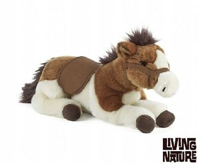 Cuddly Lying Horse ( plush pony gift equestrian Living Nature )