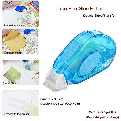 1/2/3/4/5/10/20Pc Roller Pen Glue Double Sided Tape Adhesive Transfer 5mm x 5m