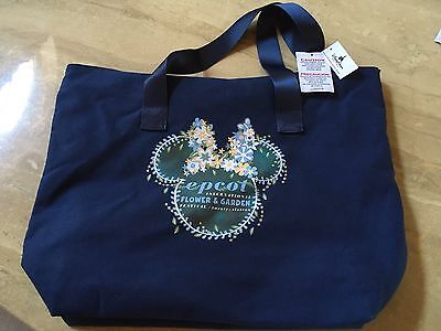 Disney Epcot Flower And Garden Tote Bag New 2016