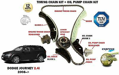 FOR DODGE JOURNEY 2.4i 2008--> TIMING CHAIN TENSIONER KIT + OIL PUMP CHAIN KIT