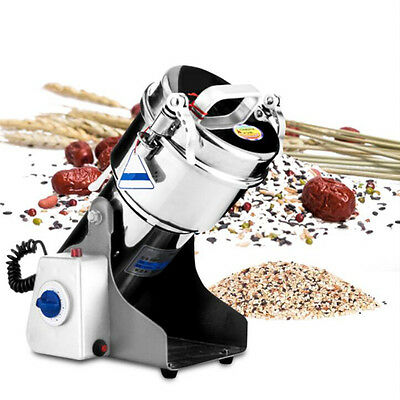 220V 500W Electric Herb Grain Grinder Cereal Mill Flour Coffee Wheat Machine