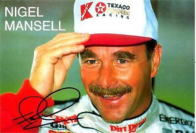 "Nigel Mansell - Colour 7½""x 5"" Signed WPL Postcard - UACC RD223"