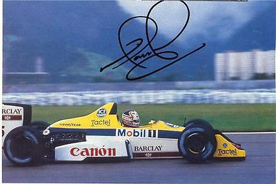 "Nigel Mansell - Colour 6""x 4"" Signed Magazine Page - UACC RD223"