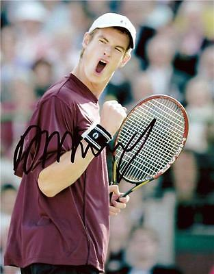 """Andy Murray - Colour 10""""x 8"""" Signed Photo - UACC RD223"""