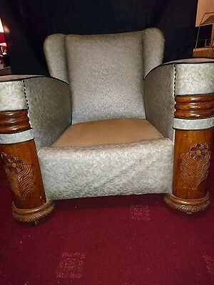 Vintage Art Deco Suite Couch Settee Sofa Chairs Restoration Project