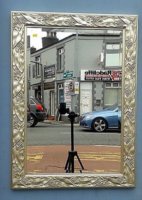 Mirror; Large Antique Style Gilt framed with bevel glass. Pictures / description