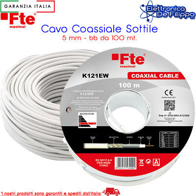 Bobina / Matassa Cavo Coassiale 5 mm K120E FTE 100 mt