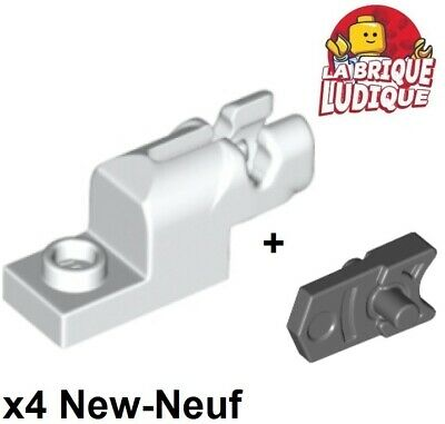 rouge foncé 4 x LEGO 15403 Blaster Canon Plate 1x2 Shooter Cannon NEUF NEW