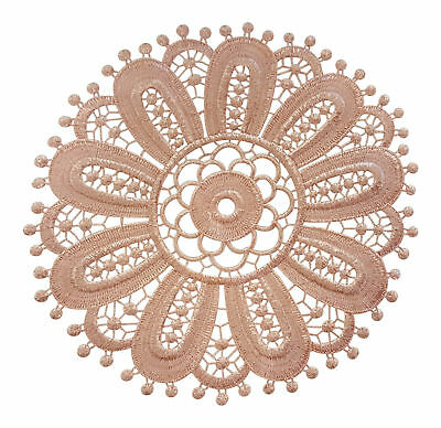 Round Floral Lace Doilies 6 Pack Traditional Table Dressing Place Mats Pink