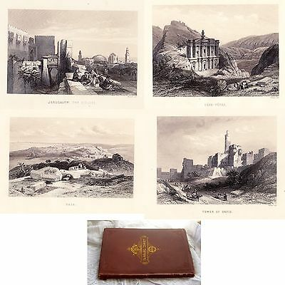 The Life of Christ 1889 Antique Engravings Holy Lands Palestine Salesman Sample