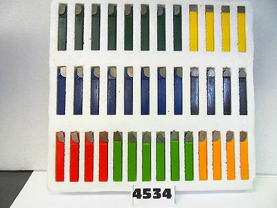 "Carbide Tool Bits Lathe Cutting C6 Grade 38 Pcs 1/2""  New Pic# 4534"