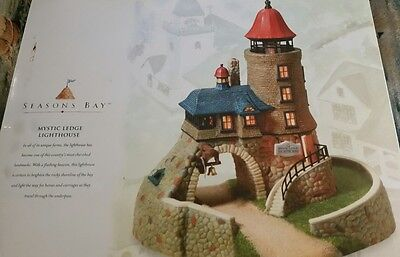 DEPT 56 Seasons Bay MYSTIC LEDGE LIGHTHOUSE #53445/ RETIRED NIB