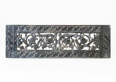 Old Architectural Salvage Rectangular Rose and Thorn Heating/Air Grate Register