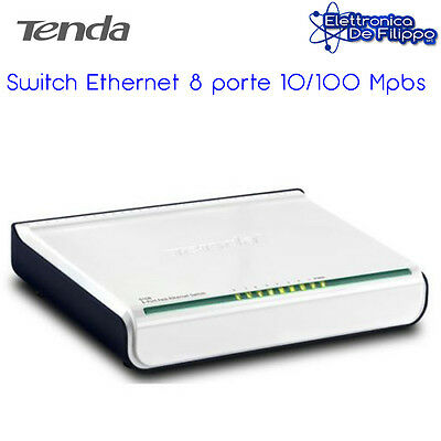 Tenda Fast Ethernet Switch, 10/100 Mbit/secondi, porta 8