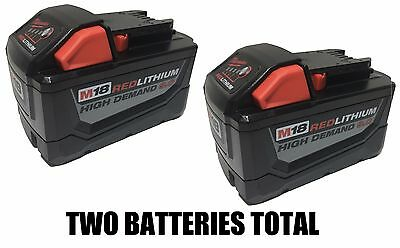 (QTY 2) MILWAUKEE M18 LITHIUM 9.0 BATTERY 48-11-1890 9.0AH Brand New Lith-Ion
