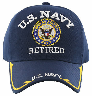 Us Navy Retired Usn Big Round Side Line Cap Hat Navy 7ffe262b04ea