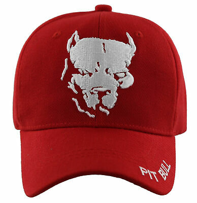 c42bb4651ae NEW! BULL DOG Red Ball Cap Hat Black -  9.95