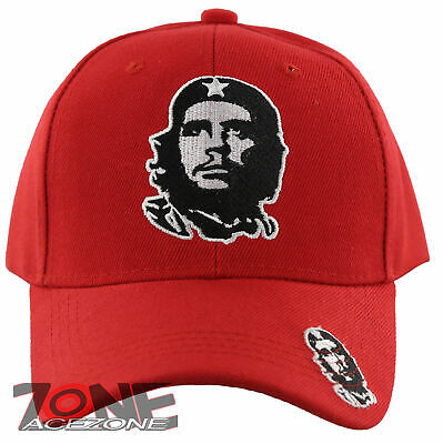 New! Che Guevara Face Ball Cap Hat Red