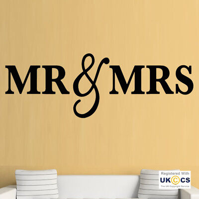 KING QUEEN COUPLE Romantic Love Bedroom Cute Wall Art Stickers Decal ...