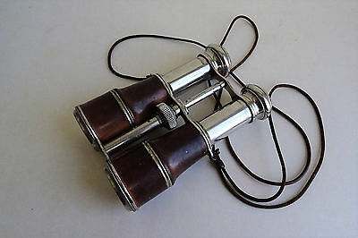 Antique Vintage Fernglas 8 x Depose Fernglas Feldstecher Nickel binoculars