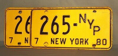 New York State Press License Plates - 1980