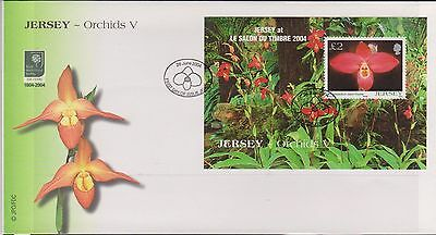 Jersey 2004 Orchids MS FDC