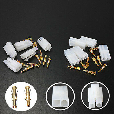 30Pcs RC R/C 7.2v Tamiya Battery Large Male Female Connector Plug Set Gold Pins