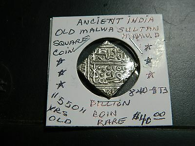 "Indian Coin/ Shah Alauddin Mahmud ""840-873""ah ""rare"" Coin Au+ 550 + Years Old"