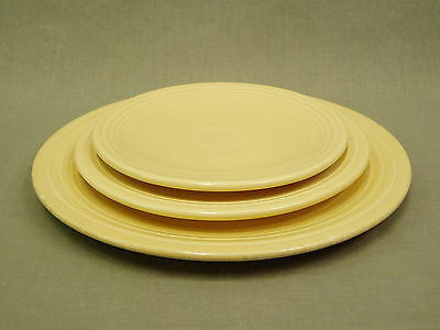 3 Lot Vintage Fiesta Ware IVORY B&B Salad Luncheon Plates Homer Laughlin China