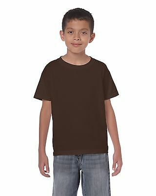Plain BROWN Childrens Kids Boys Girls Childs Cotton Tee T-Shirt Tshirt Age 3-14
