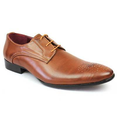 Mens Dress Shoes Almond Toe Lace Up Oxfords Formal Alen 2 Royal Modern NEW