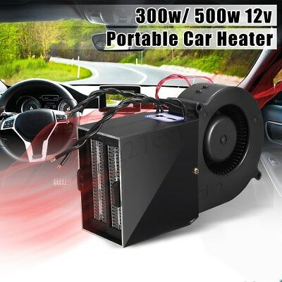 PTC 300W/500W Adjustable Car Vehicle Heater Hot Fan Defroster Demister Heating