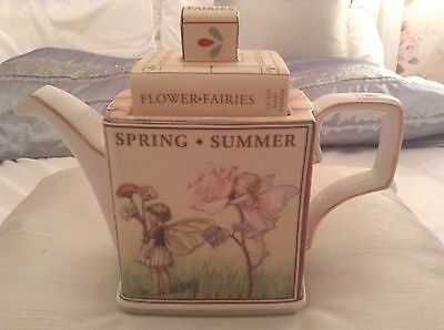 Rare Collectable Novelty Large Teapot Queens Flower Fairies Cicely Mary Barker