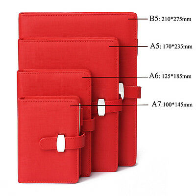 Personal Pocket Organiser Planner Diary Leather Cover Journal Notebook 4 Size