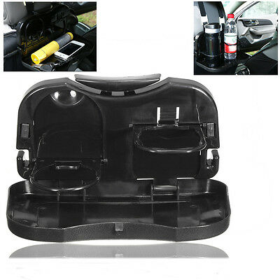 Foldable Car Back Seat Bottle Food Drink Cup Coffe Tray Holder Mount Stand Black