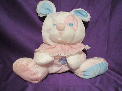 "Fisher Price Puffalump Puppy Dog with Rattle 9"" 1988  faded tag"