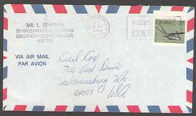Canada.  to US Postal Cover -H1