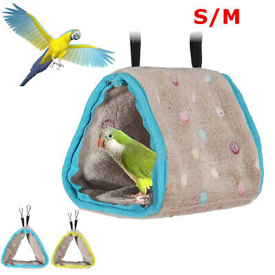 Plush Hut Hammock Hanging Cave Cage Snuggle Tent Bed Nest Bunk Bird Parrot Toy