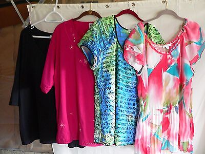 Lot Womans Blouses size 2x Dressbarn Lane Bryant Light Weight Summer