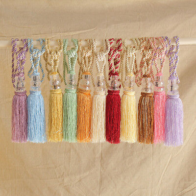 1 Pair Crystal Beaded Tassel Tie Tiebacks Home Windows Curtain Tie Backs Decor