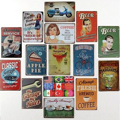 Metal Poster Pub Wall Decor Tavern Shabby Chic Bar Club Vintage Sign Tin Plaque