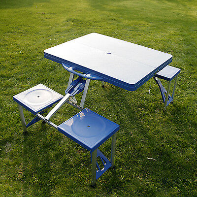 Kinbor kids portable folding plastic picnic table 4 seats blue kinbor kids portable folding plastic picnic table 4 seats blue outdoor watchthetrailerfo