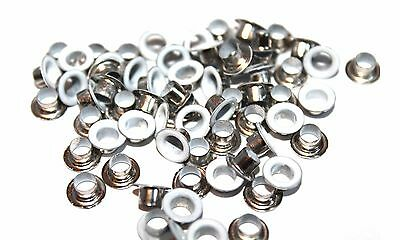 100 x 5mm White Eyelets & Washers Brass Grommet for Leather Crafts Fabric Work