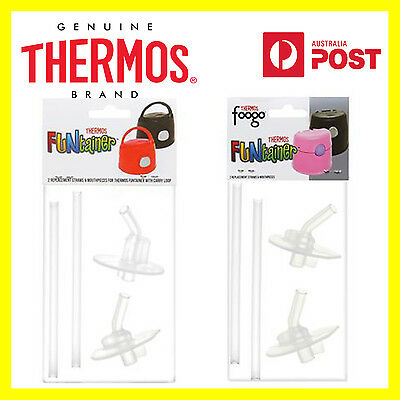 THERMOS Funtainer or Funtainer + Foogo 2 Replacement Straws & Mouthpieces Set