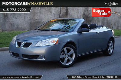 2007 Pontiac G6 2dr Convertible GT 2dr Convertible GT Fresh Trade In! Credit Issues? We Can help! Carfax Certified!