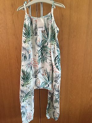 BNWT Next Girls Romper Playsuit Jumpsuit Floral Tropical Holiday Age 4-5