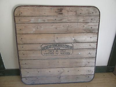 Antique Stove Board Company Fire Board 30 x 30 Chicago New York   Lot 17-32-40