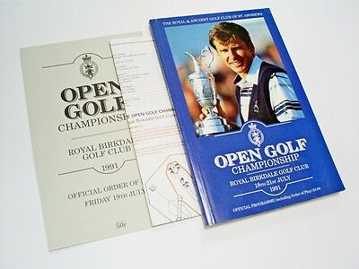 A 1991 Royal Birkdale British Open Golf Championship Official Programme