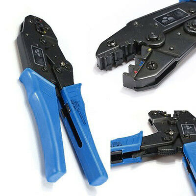 0.5-6.0mm² Ratchet Crimper Cable Wire Terminals Adjustable Plier Crimping Tool