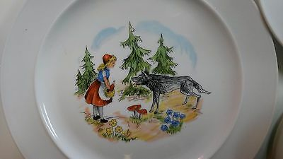 "Vintage Children's ""Big Bad Wolf"" Dinner Set. Super Cute!"